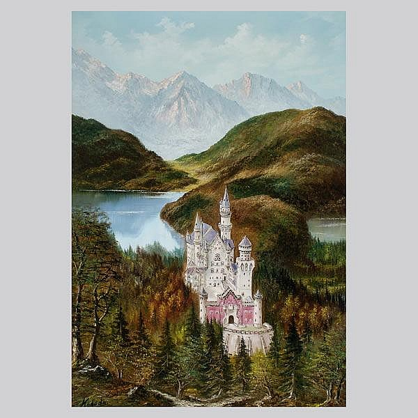 Kodeda, Mountain Landscape w/castle, oil