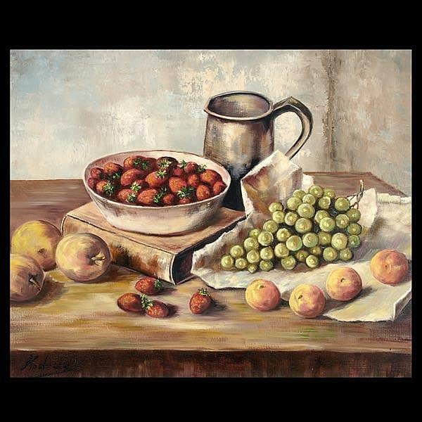 Kodeda, Still Life with Fruit, oil