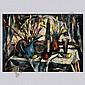 Harry Shoulberg, Abstract stil life, oil
