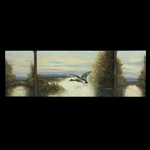 Richard Detreville, California Art Mallard Triptych
