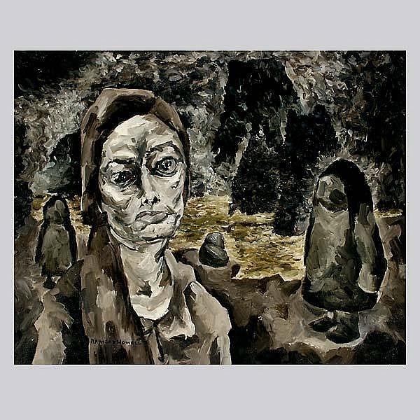 Raymond Howell. Cal Art. Woman in a Landscape.