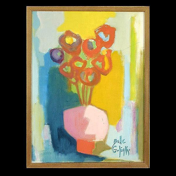 Belle Golinko. Abstract Still Life.  Oil