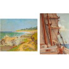 "2 Alphonse Sondag ""Nautical Paintings"""