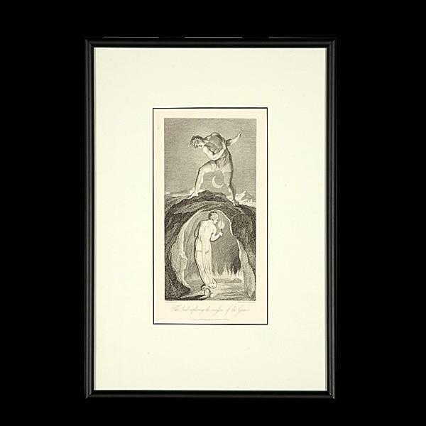 William Blake Etching, The Soul Exploring