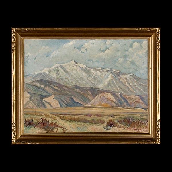 California Art Landscape Charles A Weigel Oil