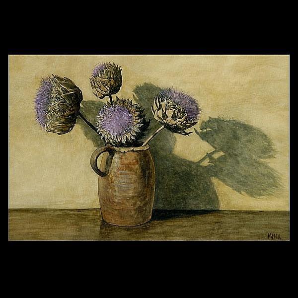 Robert Moesle, American still Life Art, Signed