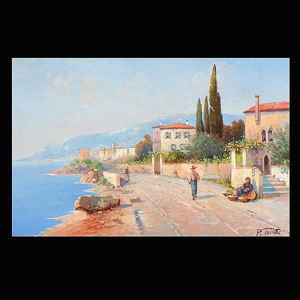 P Toretti.  Mediterranean Landscape. Oil