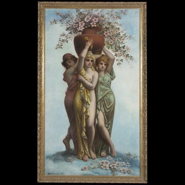 California art, Cooper, Three Graces, oil