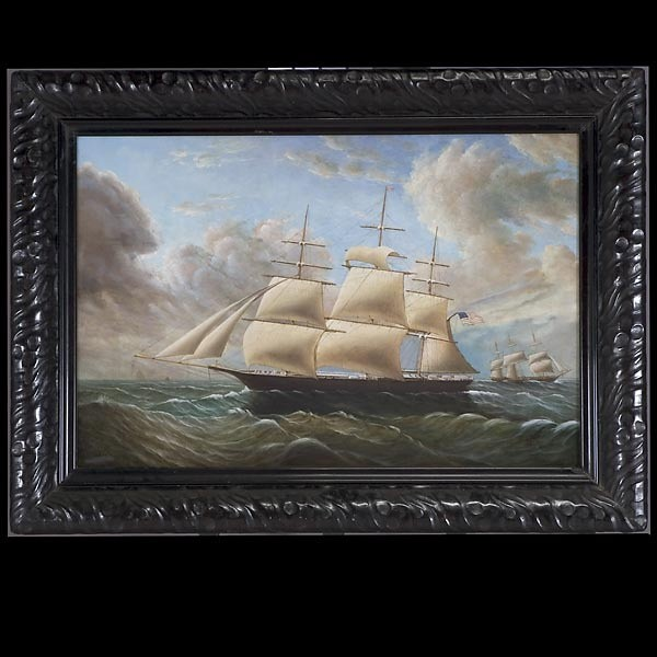 D. Tayler, American Art, Ship at Sea, Oil