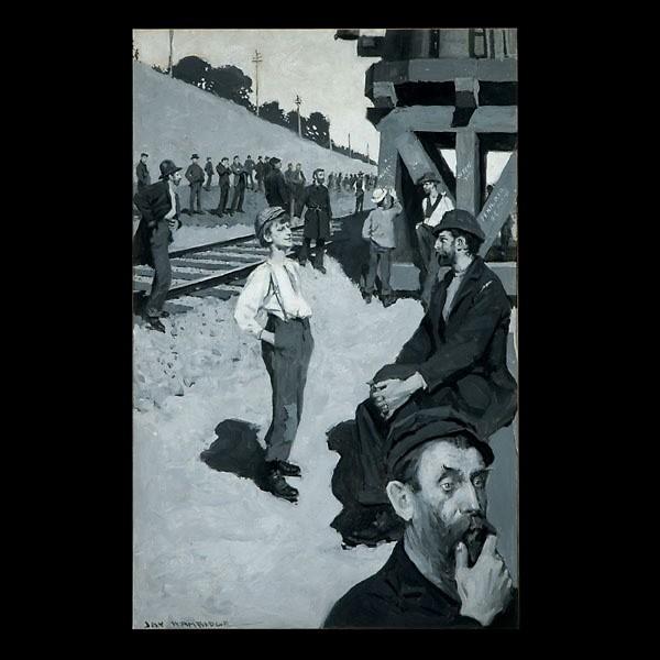 Illustration Art, Jay Hambidge. The Railroad