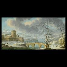 Attrib to DANIEL Van HEIL Winter Landscape