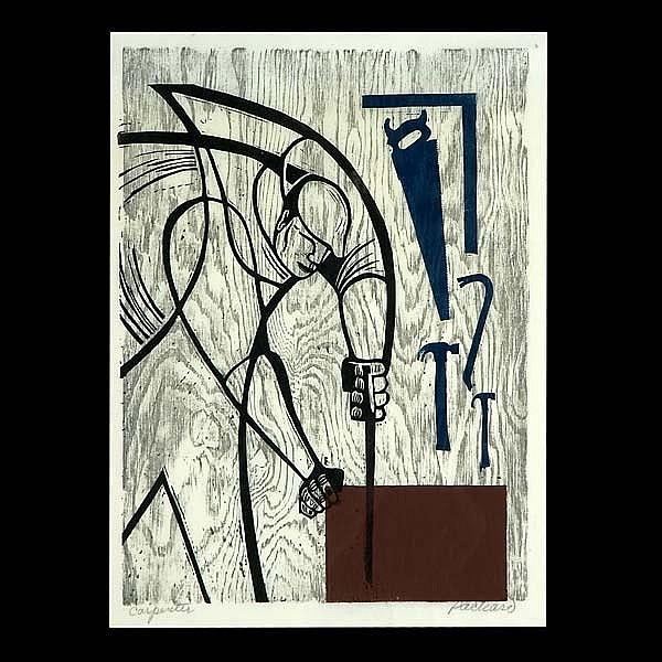 Emmy Lou Packard, California Art Woodblock print