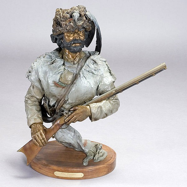 Juan Dell, The Trapper, Bronze Sculpture