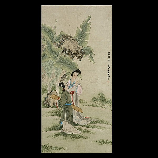 Wang ShuHui, Chinese hanging scroll, Ladies