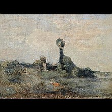 COROT, French Art, Pastoral landscape