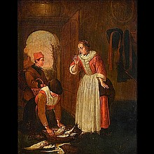 17th Century Dutch Interior painting
