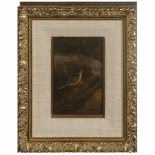 American oil painting. Grouse. T. Sander