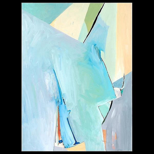 Daniel Phill , oil on canvas abstract