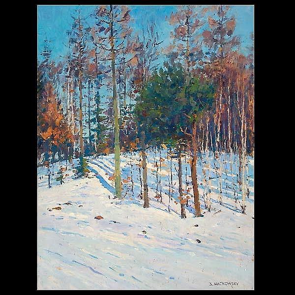 Siegfried Mackowsky, Landscape, oil on panel
