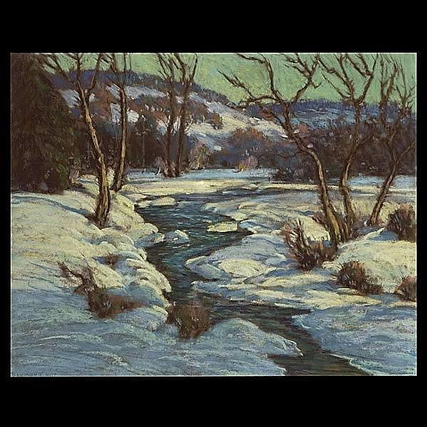 Raymond Nott. 20th C. Winter Landscape.