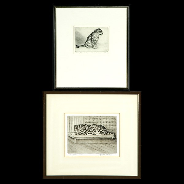 Elizabeth Norton Two Etchings California Art