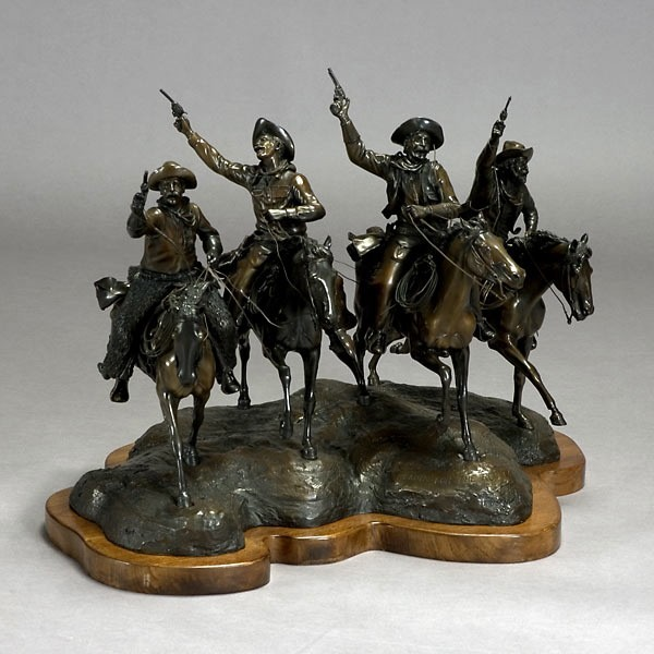 Pegimbal, Western American Art Bronze Sculpture