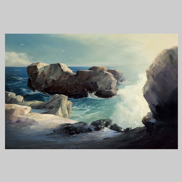 Don Bloom, California Coastal Art, Big Sur 1958