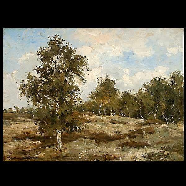 MARIA BILDER VAN BOSSE.  Oil  landscape