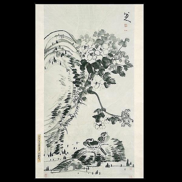 Chinese ink painting. Zhu Da (1626 - 1705)