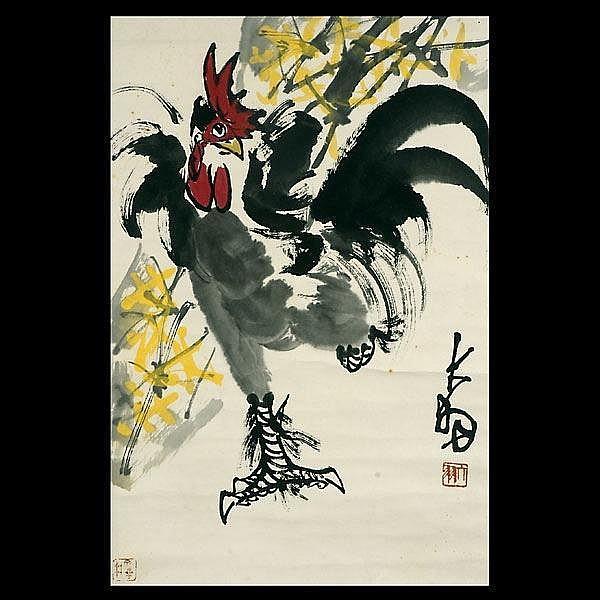 Chinese hanging scroll, Chen DaYu (1912 - 2001)