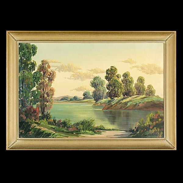 Oliver Barrett, American Art Landscape Oil