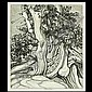Roi Partridge Etching Landscape with Trees, Roi Partridge, Click for value