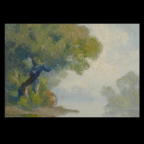 Manchus C. Loomis. CAl Art. Landscape. Oil.