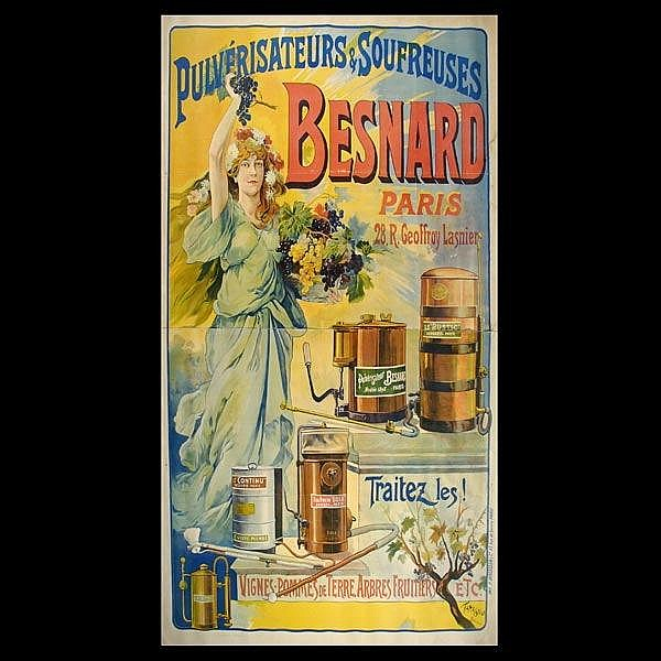 Color Lithograph French Advertizing Poster.