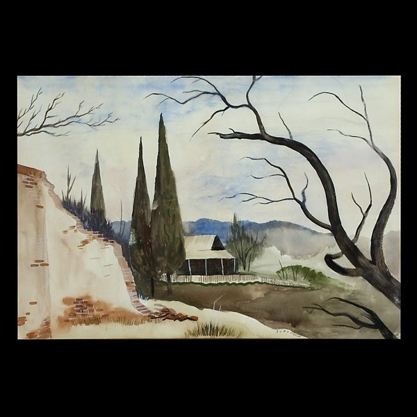 Charles Surendorf, Californian Landscape W/C