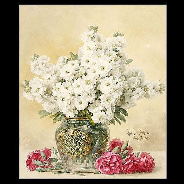 Paul De Longpre Watercolor