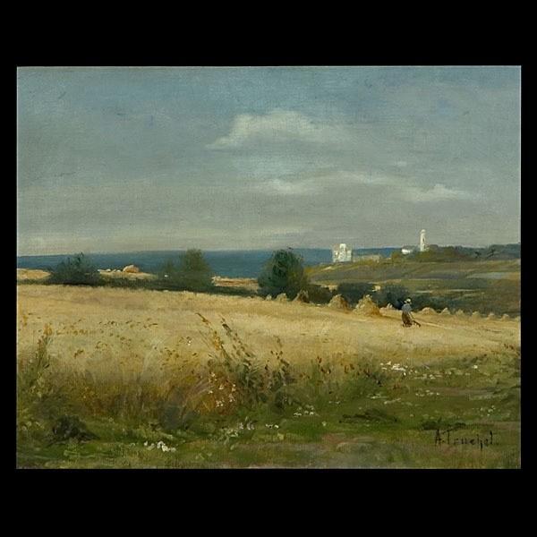 Louis Abel Truchet, French Landscape Art Oil
