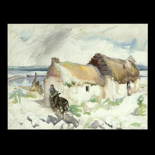 Grace Kelly, American Artist Irish Landscape W/C