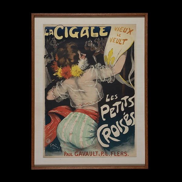 Jules Grun French Ad Poster 1900 Litho Beautiful