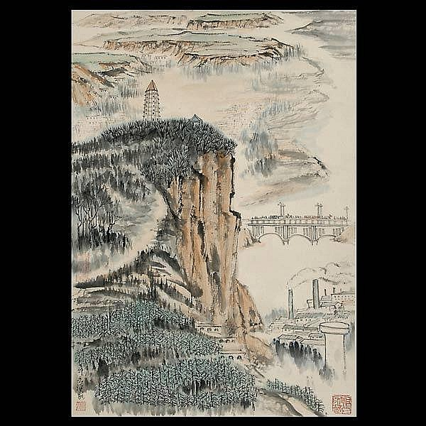 Chinese Ink Painting He HaiXia (1908 -1998)