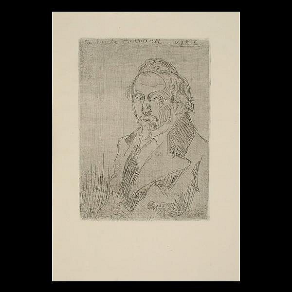 Roux-Champion etchings, portraits; Oppenheimer