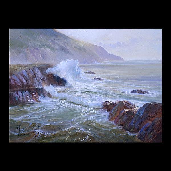 Vernon Kerr, Coastal Art, Green Chiffon