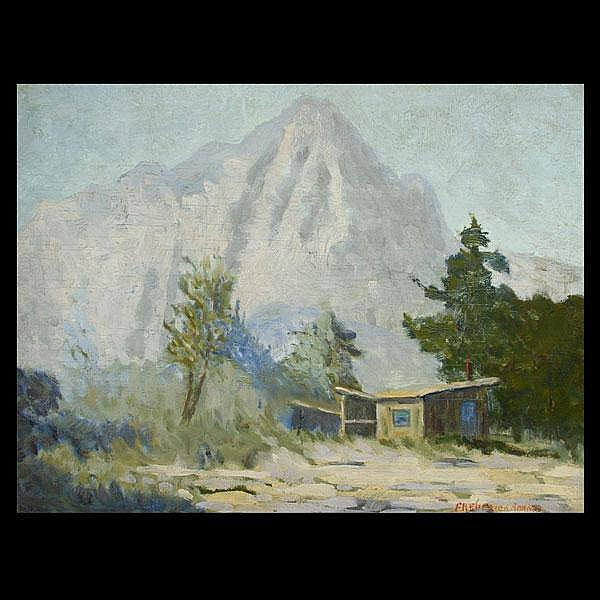Frederick Adams, American Art Mountain Landscape
