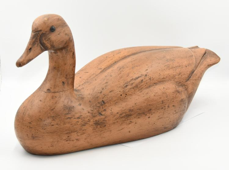 Carved Wooden Duck