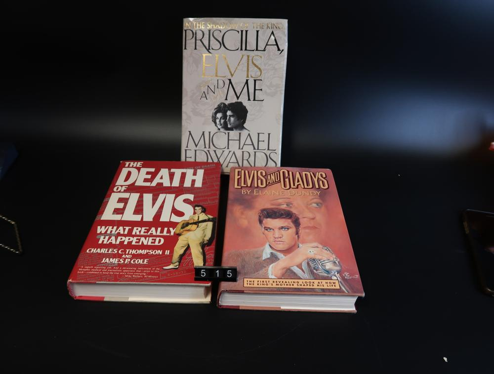Elvis Presley Books(3) First Edition; Precila Elvis & me; The Death of Elvis, Elvis & Glady's.