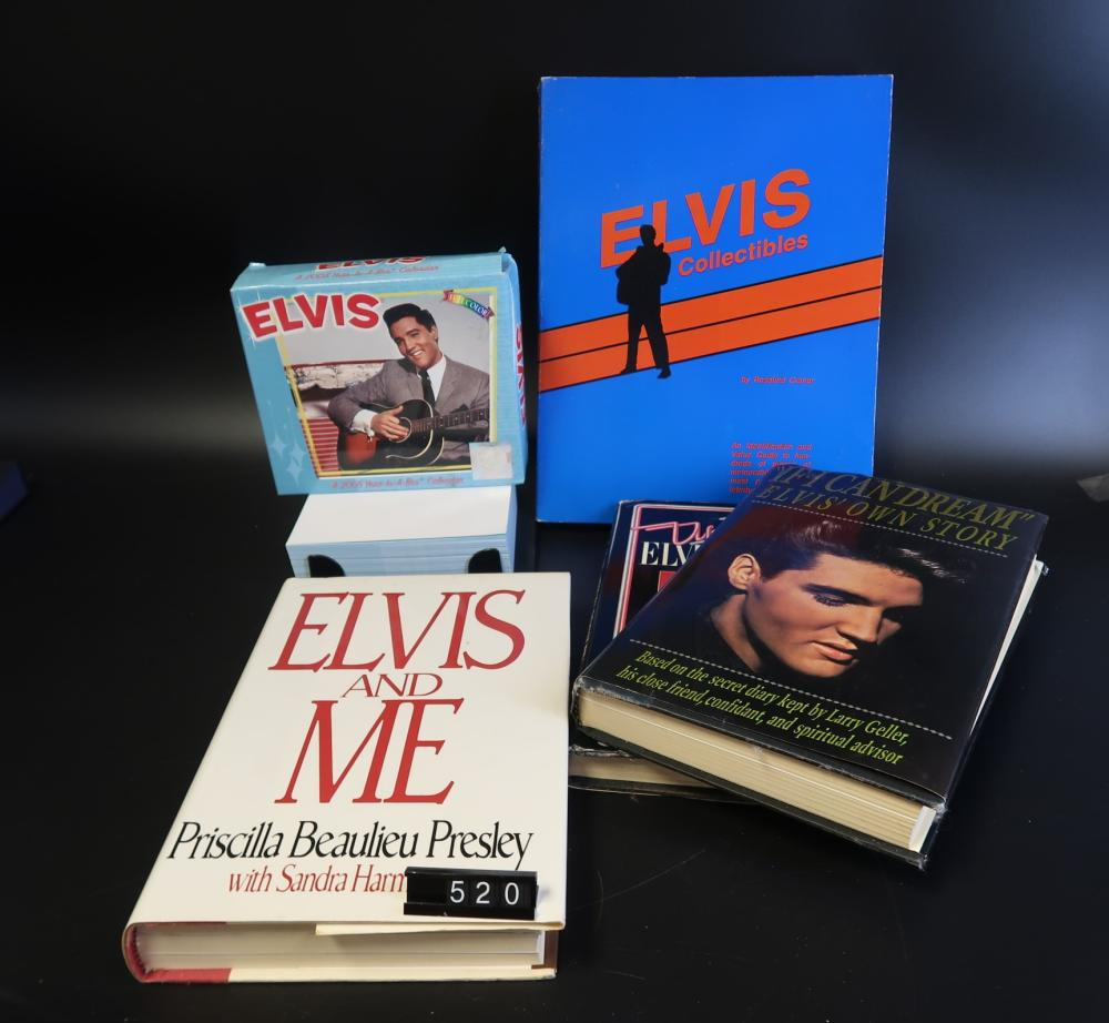Elvis Presley Box Collectible Calendar Year 2005, Up & Down, Elvis & Me; Elvis Collectible Books; If I Dream Elvis Own Story.