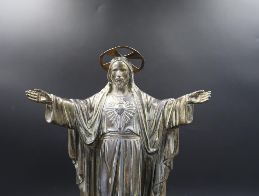 Bronze Statue of the  Sacred Heart  Jesus Chrirst
