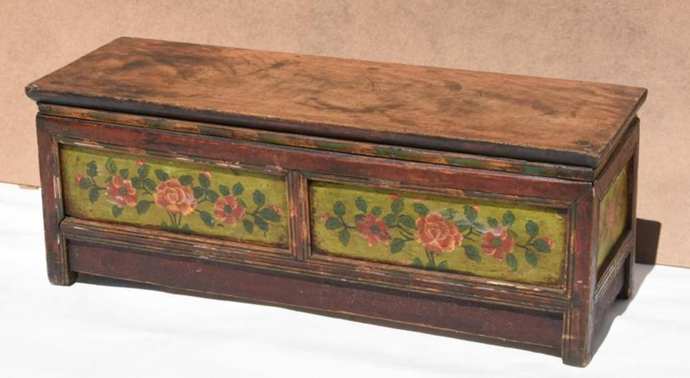 19th Century Hand-painted Colonial Bench