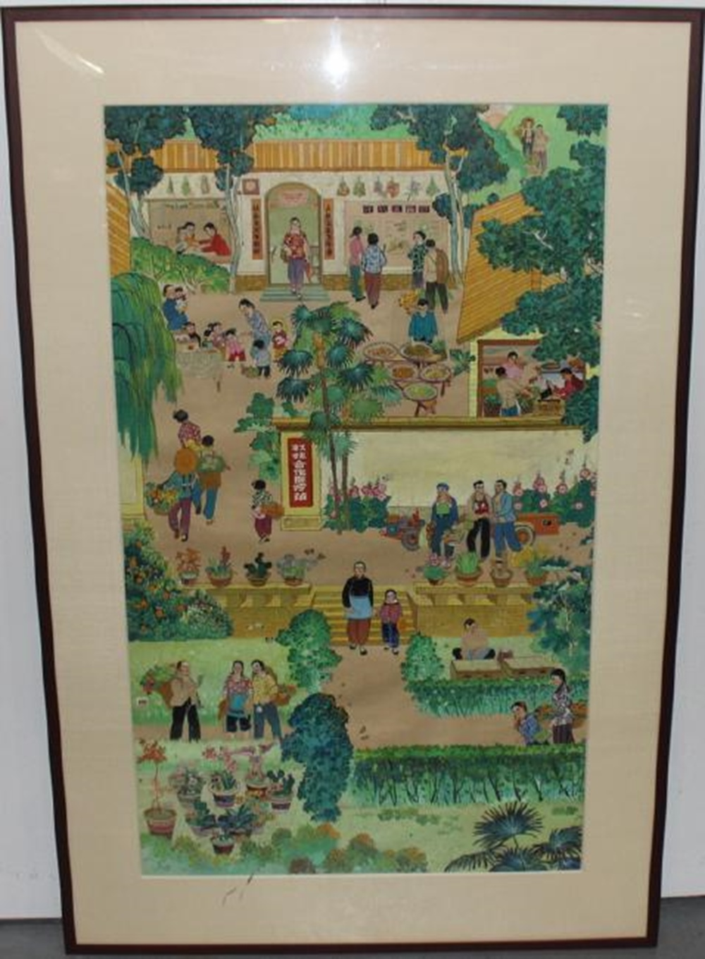 Rare Chinese Republic Gouache on Paper