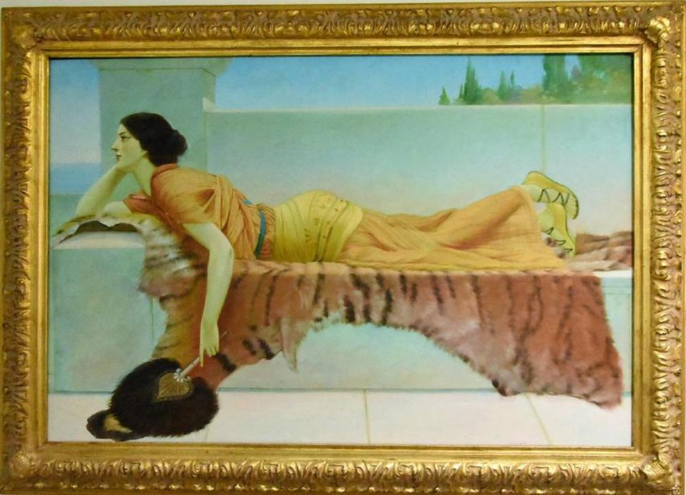 Attributed to John William Godward Oil on Canvas